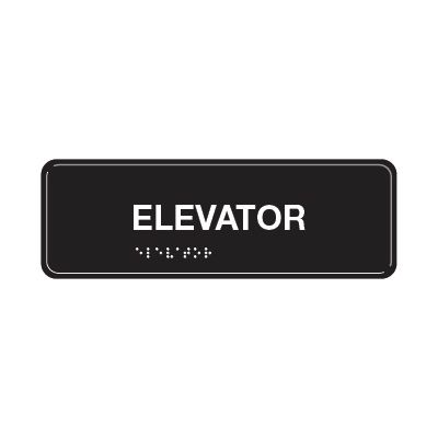 Elevator - ADA Braille Tactile Signs