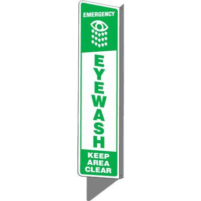 Emergency Eyewash Keep Area Clear - 2-Way Sign