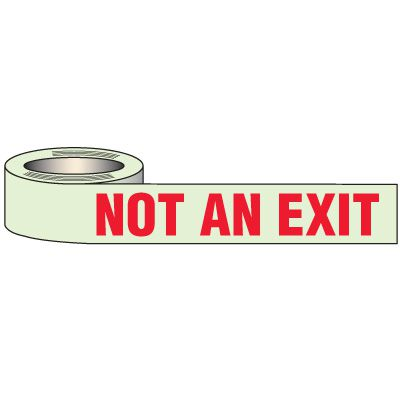 Glow In Dark Not Exit Tape