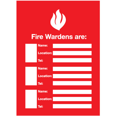 Fire Wardens Emergency Frame With Photo Inserts