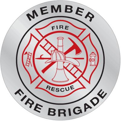 Emergency Response Hard Hat Decals- Fire Brigade