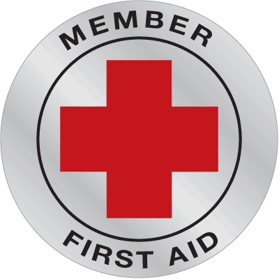 Emergency Response Hard Hat Decals- First Aid