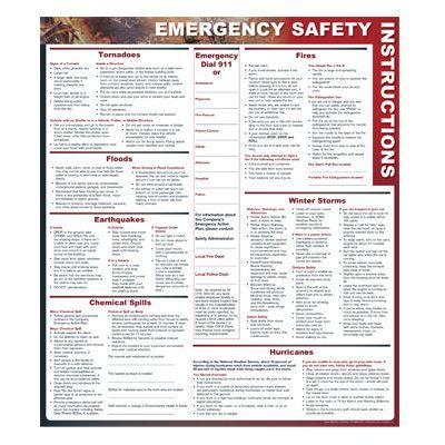 Emergency Safety Instructions - Safety Poster
