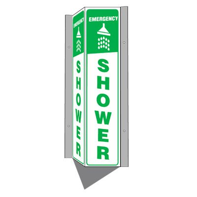 Emergency Shower - 3-Way Sign