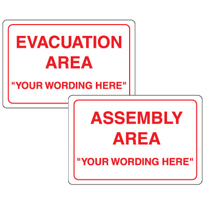Semi-Custom Evacuation Assembly Signs