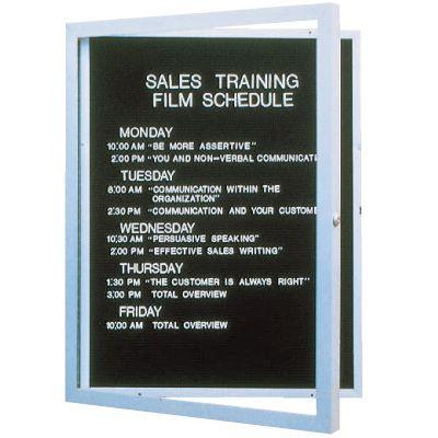 Enclosed Aluminum Frame Indoor Letterboards