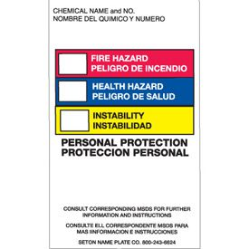 English/Spanish Right-To-Know Labels