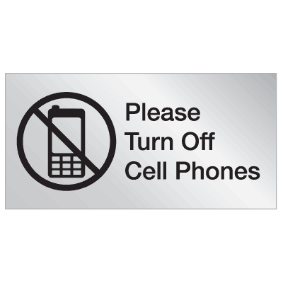 Engraved No Cell Phone Signs - Please Turn Off Cell Phones