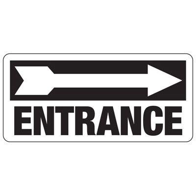 Entrance (Right Arrow) - Industrial Entrance Signs
