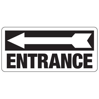 Entrance (Left Arrow) - Industrial Entrance Signs
