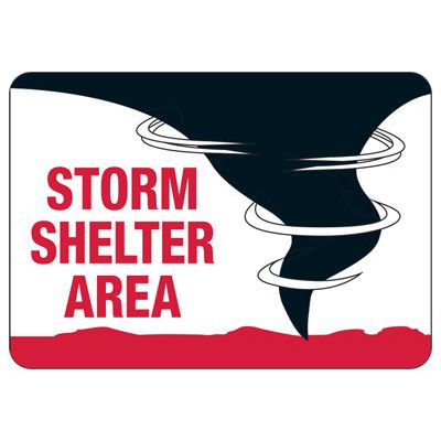 Storm Shelter Area Evacuation Signs