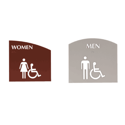 Evolution Restroom Signs