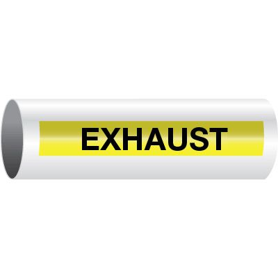 Exhaust - Opti-Code™ Self-Adhesive Pipe Markers