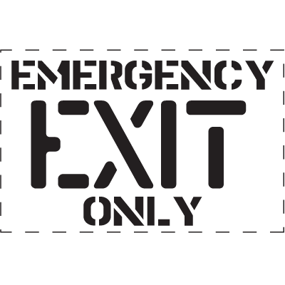 Emergency Exit Only - Fire & Exit Equipment Stencil