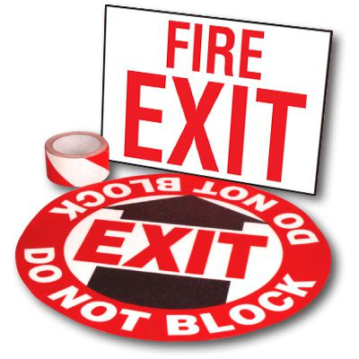 Exit Path Marking Kits - Fire Exit