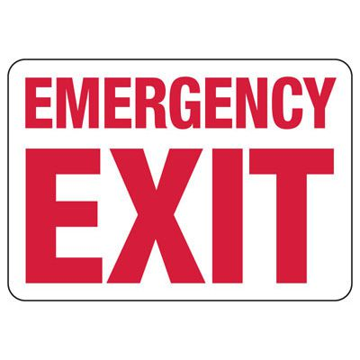 Exit & Fire Equipment Signs - Emergency Exit