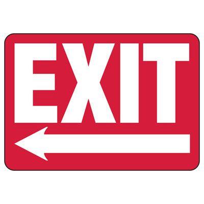 Exit (Left Arrow)  -Industrial Exit Signs