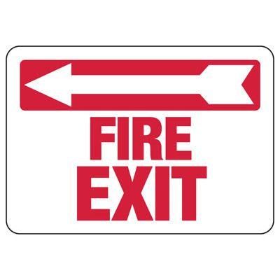 Fire Exit (Left Arrow) - Industrial Exit Signs