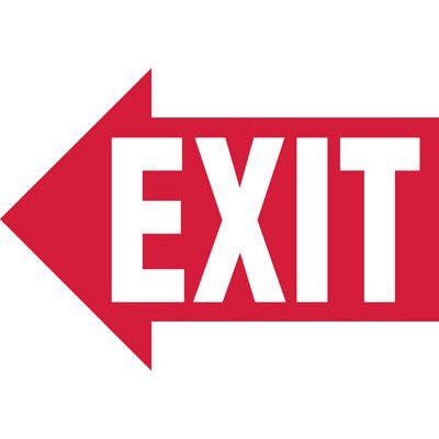 Exit (Left Arrow) - Industrial Exit Signs