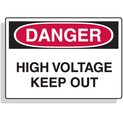 Extra Large OSHA Signs - Danger - High Voltage Keep Out