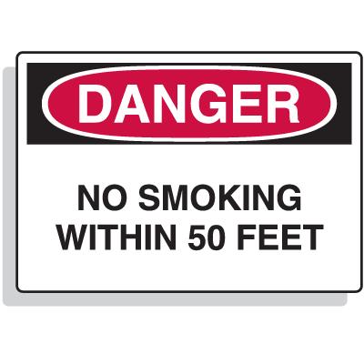 Extra Large OSHA Signs - Danger - No Smoking Within 50 Feet