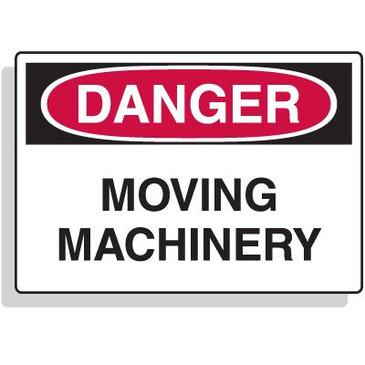Extra Large OSHA Signs - Danger - Moving Machinery