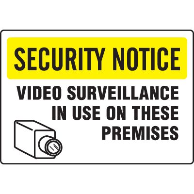 Extra Large Restricted Area Signs - Security Notice Surveillance In Use
