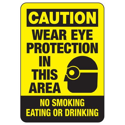 Caution Wear Eye Protection - PPE Sign