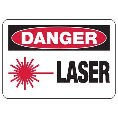 Danger Laser - Laser Safety Sign