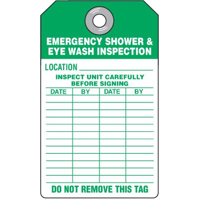 Emergency Shower & Eyewash Location Tag