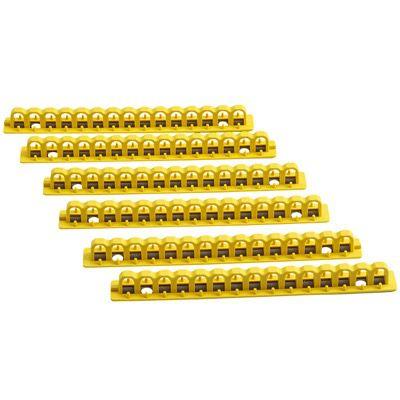 Brady EZ Panel Loc® 8 Lock Rails - Part Number - 51260 - 6/Pack