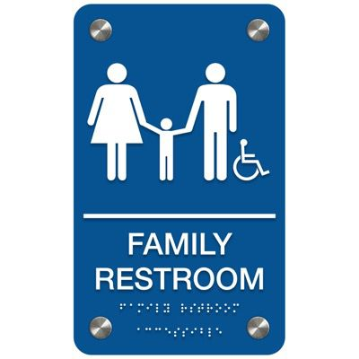 Family Restroom (Accessibility) - Premium ADA Restroom Signs