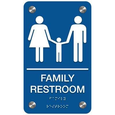 Family Restroom - Premium ADA Restroom Signs