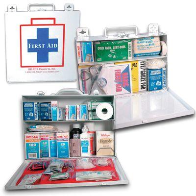 Fieldtex ANSI and OSHA Compliant Metal First Aid Kit