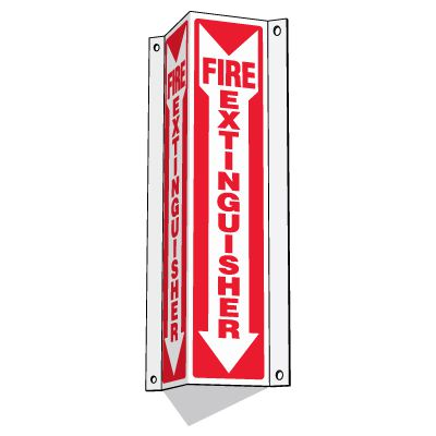 Fire Extinguisher - 3-Way Fire Extinguisher Signs