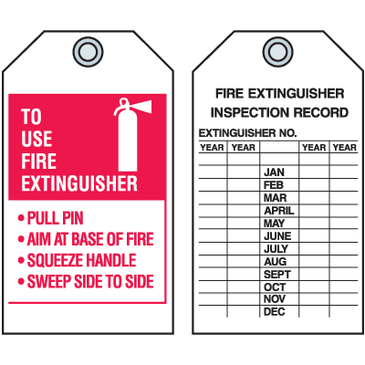 photograph relating to Printable Fire Extinguisher Sign identify Fireplace Extinguisher P.A.S.S. Tags - 4\