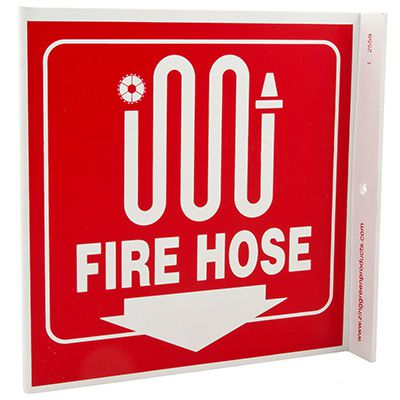 Fire Hose L-Style Sign