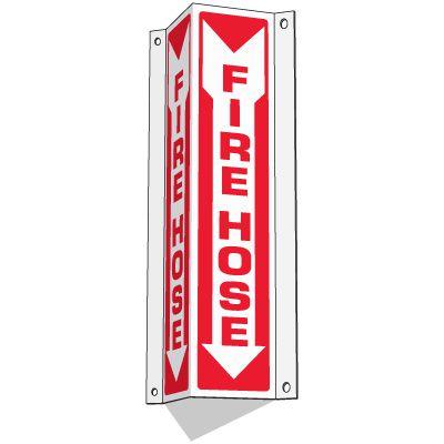 Fire Hose - Slim-Line 3-Way Signs