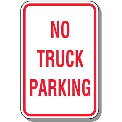 Fire Lane Signs - No Truck Parking
