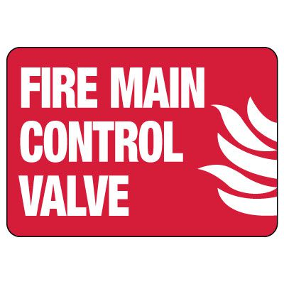 Fire Main Control Valve Sign