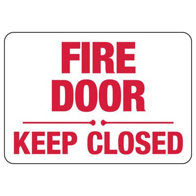 Fire Door Keep Closed - Fire Safety Sign