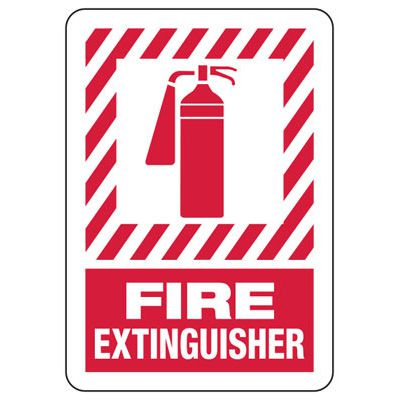 Fire Extinguisher - Fire Safety Sign