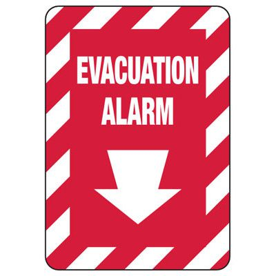Evacuation Alarm - Fire Safety Sign