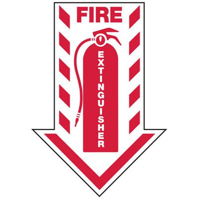 Fire Extinguisher (Arrow) - Industrial Fire Signs