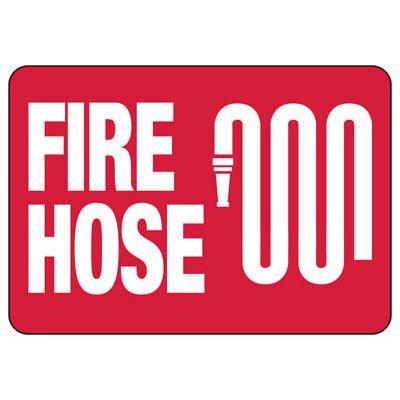 Fire Hose - Fire Safety Sign