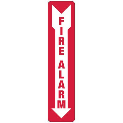 Fire Alarm (Arrow Down) - Industrial Fire Signs