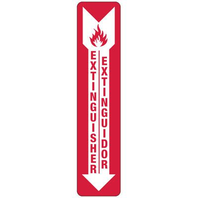 Bilingual Fire Extinguisher - Industrial Fire Signs