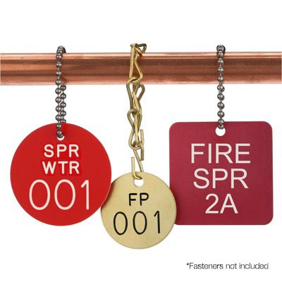 Custom Fire Sprinkler Valve ID Tags