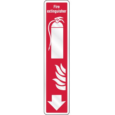 Fire Extinguisher (Arrow Down) Sign
