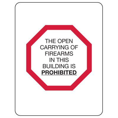 Kansas Concealed Carry Signs - Open Carrying Is Prohibited